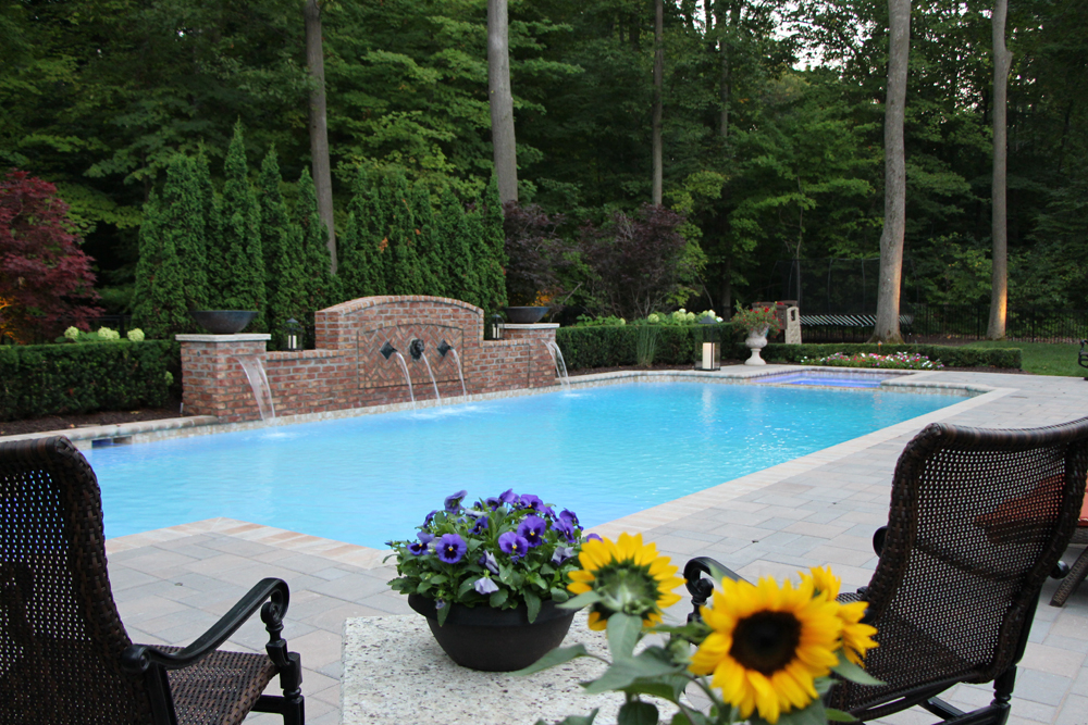 Gunite Pool In Novi Michigan