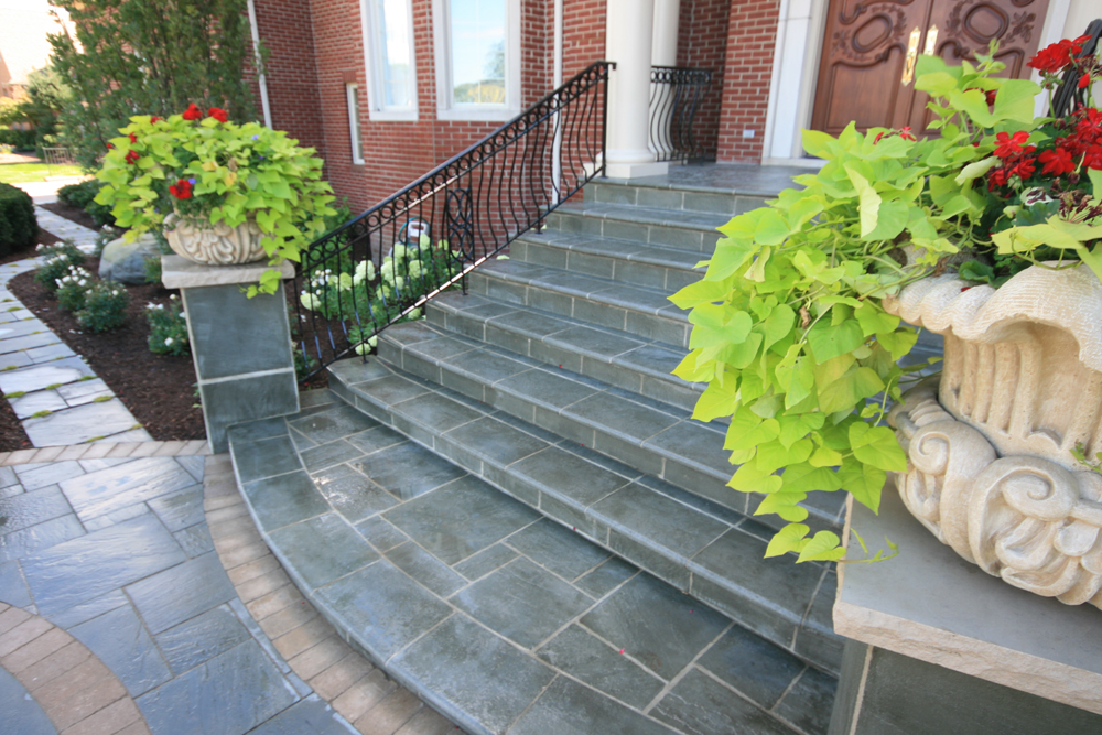 Landscaped Stone Walkway And Steps In Shelby Township Mi
