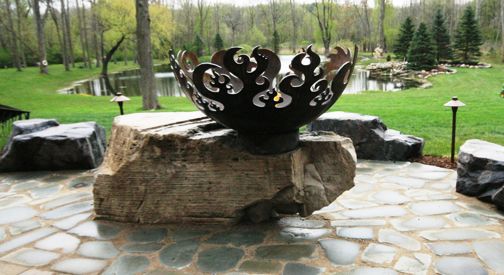 Handcrafted Fire Bowl In Oakland Township Michigan